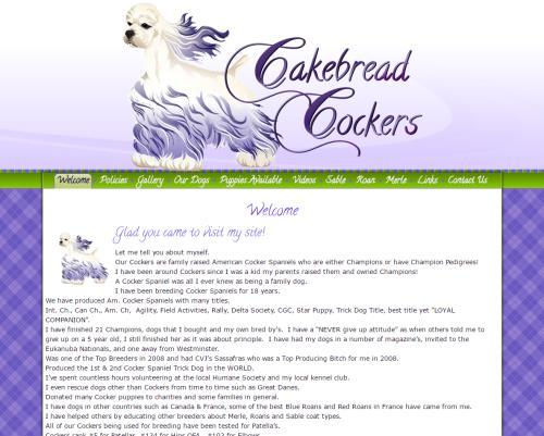 Cakebread Cockers